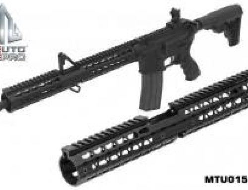 UTG PRO 15″ Slim Keymod & M-LOKR Carbine Length Drop-in Handguards